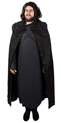 Narwhal Novelties Medieval Cape, Black, Deluxe Halloween