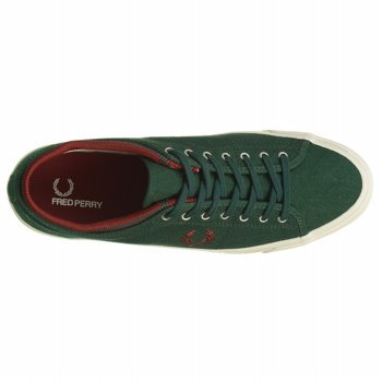 Fred Perry Kendrick Tipped Cuff Green Mens Trainers