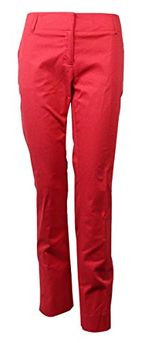 Laundry by Shelli Segal Women's Solid Cotton Blend Pants (6, Chrysanthemum)