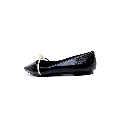 Mujer 1to9 Mms06631 Sólidas Cuentas De Uretano Viaje Con Para Negro Zapatos rzxrqPZ6