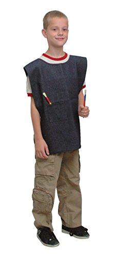 - School Smart Heavy Duty Denim Child Apron, 19-1/2 x 17 Inches, Blue