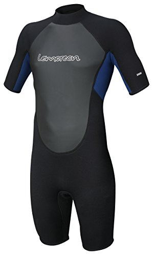 Lemorecn Wetsuits Mens Neoprene 3mm Shorty Diving - Men Wetsuit