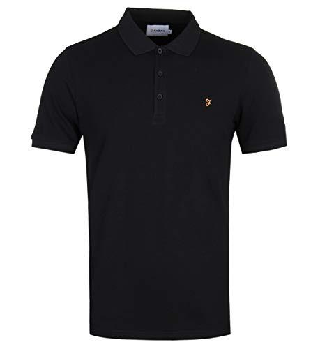 FARAH Blaney SS Polo Shirt - Black - M