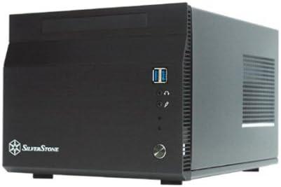 Silverstone Tek SG06B-USB3.0 Aluminum//SECC SFX 300 W with 80 Plus Certification Power Supply Mini-ITX Desktop Computer Case with 2X USB3.0 Front Ports Cases Black