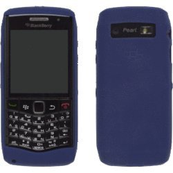 Blackberry Pearl Rubber - OEM DARK BLUE Blackberry Rubber Gel Skin Silicone Case Cover for Pearl 3G 9100