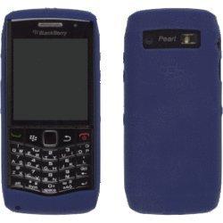OEM DARK BLUE Blackberry Rubber Gel Skin Silicone Case Cover for Pearl 3G 9100