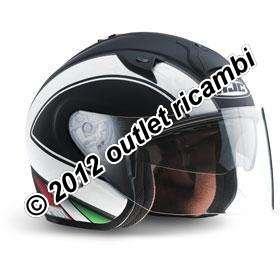 11810507 Casco Hjc Demi Jet Inga isurby Italia Color Negro Matto tamaño S/cm 56