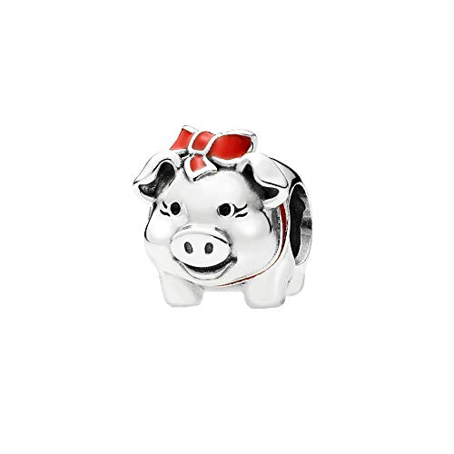 Piggy Silver Bank Sterling (I Love My Pet Animal Charm Authentic 925 Sterling Silver Lucky Charms Beads fits Bracelet Necklace (Piggy Bank))