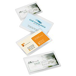 Office Depot(R) Brand Laminating Pouches, Business Card Size, 5 Mil, 2.56in. x 3.75in, Pack Of 100