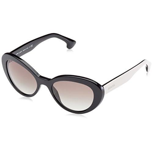 bdecc8bbb175 best Prada PR15QS Sunglass-ROK 1V1 Top Black White Havana (Blue Lens ...