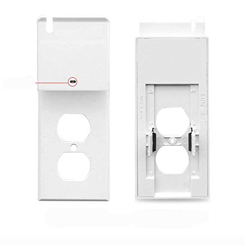 ( 1 pack ) Usb Outlet wall plate with Led night light – Cellphone Charger Holder -Guidelight - Outlet Wall Cover Plate Receptacle With Energy Efficient - Built in sensor - No wire - White (1, usb) by Moonlight