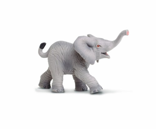 (Safari Ltd Wild Safari Wildlife - African Elephant Baby - Realistic Hand Painted Toy Figurine Model - Quality Construction from Safe and BPA Free Materials - For Ages 3 and Up)