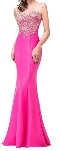 SHUNLIU Vestidos de Fiesta Largos Vestido Encaje de Mujer Elegantes de Noche Detrás de Perspectiva Hueco Rosa