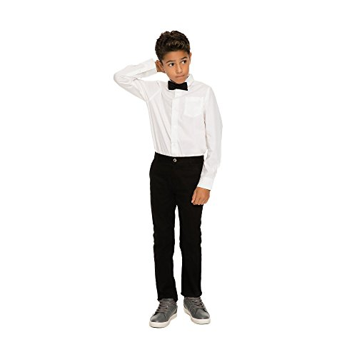 Bow Button Long White Sleeve Boys French Dress with Toast Down Long Tie Shirt Sleeve LE1638 Shirt ca87Fq