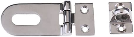 1 Set Silver Boat Swivel Locking Hasp Hinge Hardware Parts Stainless Steel