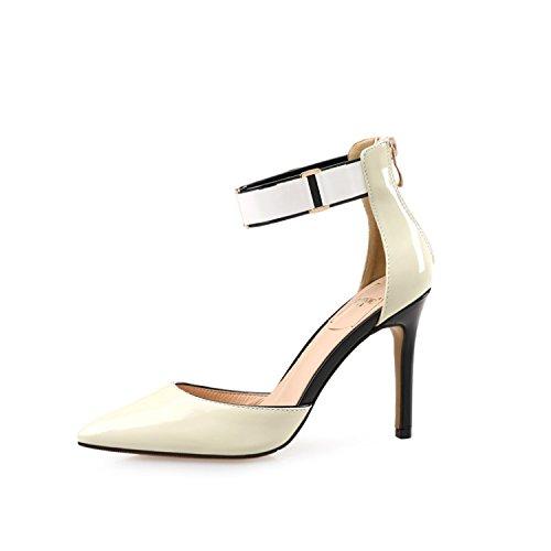 Zapatos Baotou Es Es Palabra Los De Sandalias Tacón Los con Punta Los Primavera De De Superficial Black Abrochado ZHANGJIA Zapatos Zapatos La Mujer La 51waOvXvWq
