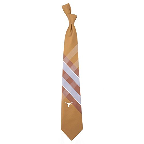 (Texas Longhorns Grid Neck Tie with NCAA College Sports Team)
