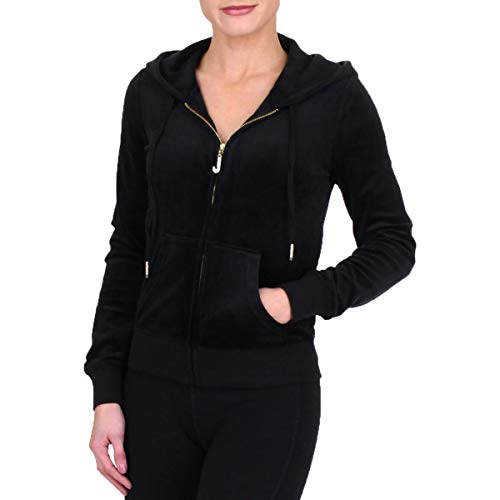 (Juicy Couture Black Label Womens Luxe Robertson Charm Jacket Black Size S)