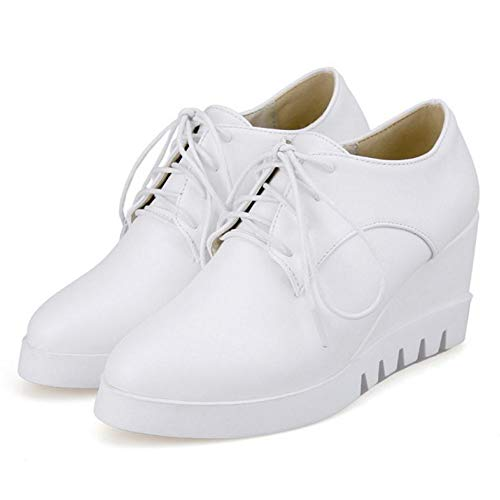 Blanc Lacets Eleemee Wedges Femme Chaussures qHI6IT