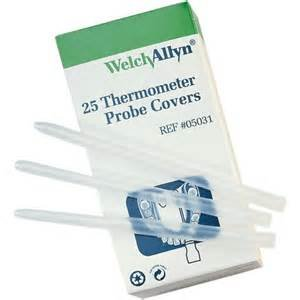 Electronic Thermometer Covers Probe - Welch Allyn 05031-SureTemp Plus Model 690 Electronic Thermometer Disposable Probe Covers (Pack of 250)
