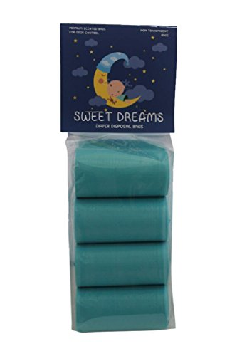 Sweet Dreams 120 Count Scented Diaper Disposal Bags, 8 Rolls