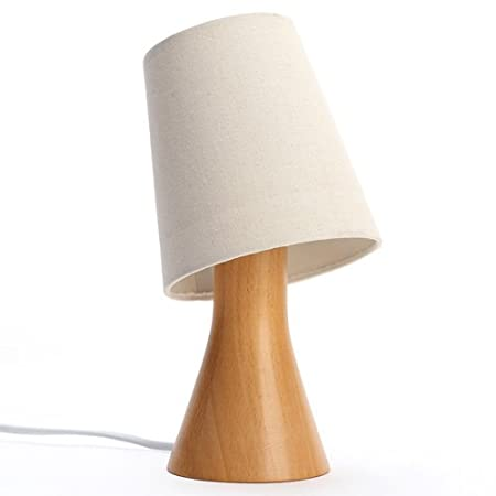 HBA Lámpara de Mesa de Madera, luz Nocturna Regulable, Ajustable ...