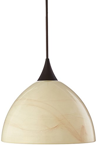Besa Lighting RXP-467983-BR Brella Collection 1-Light 12V Rail-Ready Mini-Pendant Element, Bronze Finish with Mocha Art ()
