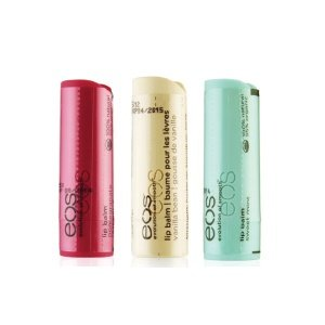 EOS Lip Balm Stick Pack: Pomegranate Raspberry, Vanilla Bean & Sweet Mint