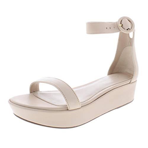 (Stuart Weitzman Women's Capri Wedge Sandal Fawn cush Nappa 8.5 Medium US)