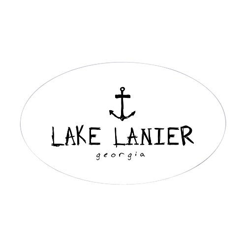 CafePress Lake Lanier Georgia Anchor Oval Bumper Sticker, Euro Oval Car Decal (Lake Lanier Decal)