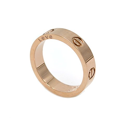 [Luxury Shine Celebrity Love Rose Gold-Plated Band Ring for Women (6)] (Love Ring)