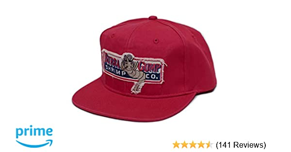 517fee46 Amazon.com: Bubba Gump Shrimp Co. Unisex-Adult One Size Embroidered  Distressed Cap Red: Clothing