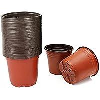 100PCS Plastic Plant Flower Garden Pots Nursery Seedlings Pot Growing Container