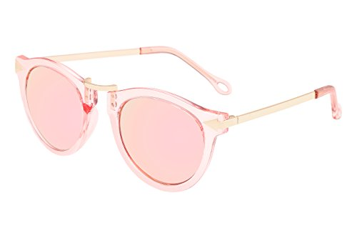 FEISEDY Vintage Arrow Polyester Metal Frame Polycarbonate Lenses Women Sunglasses Pink - Light Sunglasses Pink