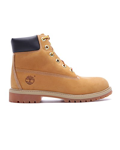 Timberland Boy's 6 Inch Premium Boot Nubuck Wheat Yellow Ankle-High Leather - 4M