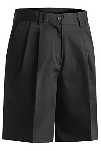 Ed Garments Women's Pleated Front Button Closure Utility Short, BLACK, 22W