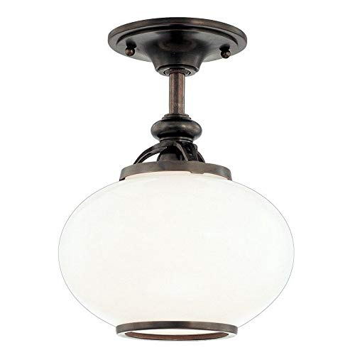 Hudson Valley Lighting 9809F-OB One Light Semi Flush Mount from The Canton Collection, 9