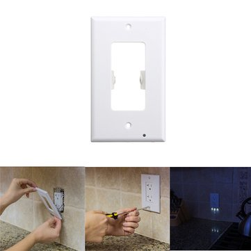 Led Night Lights - 110v Led Light Control Wall Outlet Cover Plate Night Light Hallway Kitchen Emergency Safety Lamp - - In Harbor National Outlet
