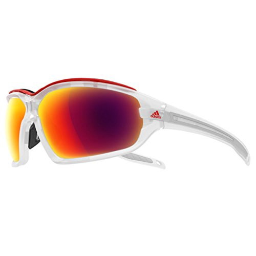 Adidas Sonnenbrille Evil Eye Evo Pro L (A193) Crystal Matt (Rot Mirror)