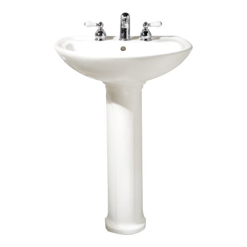 American Standard Cadet Sink - American Standard 0236.811.020 Cadet Pedestal Top and Leg with 8-Inch Center Holes, White