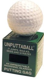 Unputtaball Golf Ball Putting Gag Swirls When Hit NEW