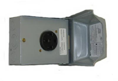 Ge Energy Industrial Solutions U054P Midwest Electric 50A 120/240V Outdoor Raintite Receptacle Enclosure