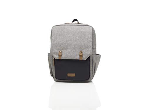 Babymel George Unisex Diaper Backpack in Grey and Black | Li