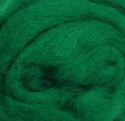 Wistyria Editions 12-Inch Wool Roving, 0.22-Ounce, Green