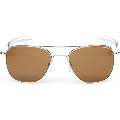 Randolph Engineering Aviator Bright Chrome | Tan Polarized Bayonet- Af127