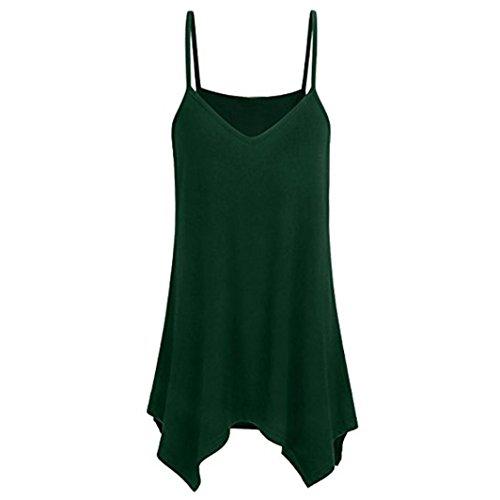 Camisoles, FORUU Womens Hem Flowy Casual Summer Spaghetti Strap Tank Tops Crop ()