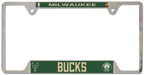 Milwaukee Bucks Official NBA 12 inch x 6 inch Metal License Plate Frame
