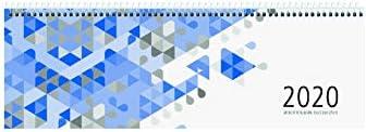 Zettler Kalender Querkalender 30x10cm 1W/1S blau