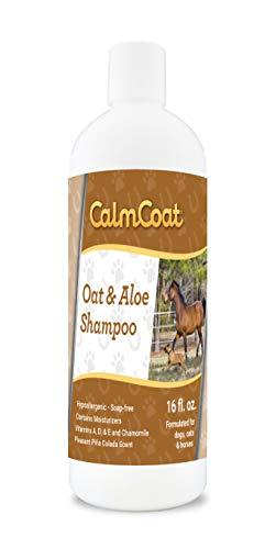 Formula Shampoo Pet Coat - Calm Coat Oatmeal & Aloe Dog Cat & Horse Shampoo - Hypoallergenic & pH Balanced Formula - Mild & Gentle for Itchy Scaling & Sensitive Skin - 16 oz