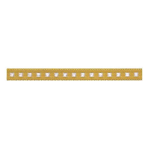 Berisfords Box Stitch: 5m x 7mm: Gold